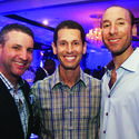 "Ryan Lieber, left, Jay Vogel and Josh Friedman enjoyed the festivities at Congregation B'nai Israel's annual ""Denim & Diamonds Auction"" gala, which recently took place in Boca Raton."