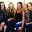 "Jen Gang, left, Stacie Forman, Lindsay Popiel, Jaclyn Brodie and Allison Silverman sparkled and shined at Congregation B'nai Israel's annual ""Denim & Diamonds Auction"" gala, which recently took place in Boca Raton."
