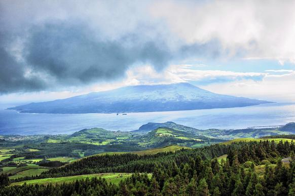 An elevated view of the Azores.