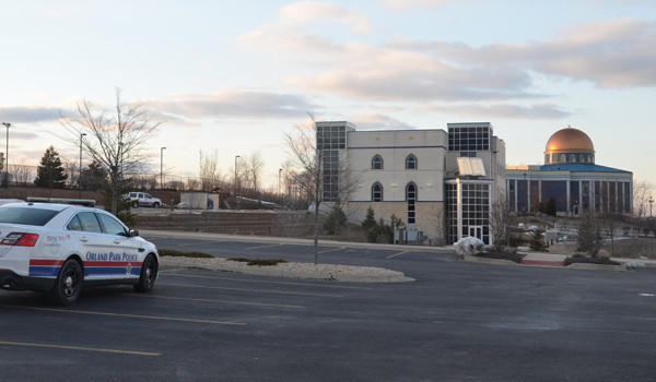 Orland Park police are conducting extra patrols outside the Prayer Center of Orland Park after a bullet struck the dome during morning prayers Tuesday.