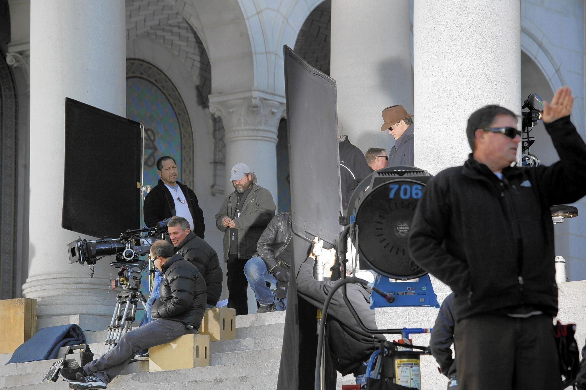 "Proposed legislation would extend the California film tax credit program until 2022. It would broaden eligibility to include big movie productions, all television series and provide a special incentive for shooting outside the traditional Los Angeles-centered area. Above, filming of ""Gangster Squad"" at L.A. City Hall in 2011."
