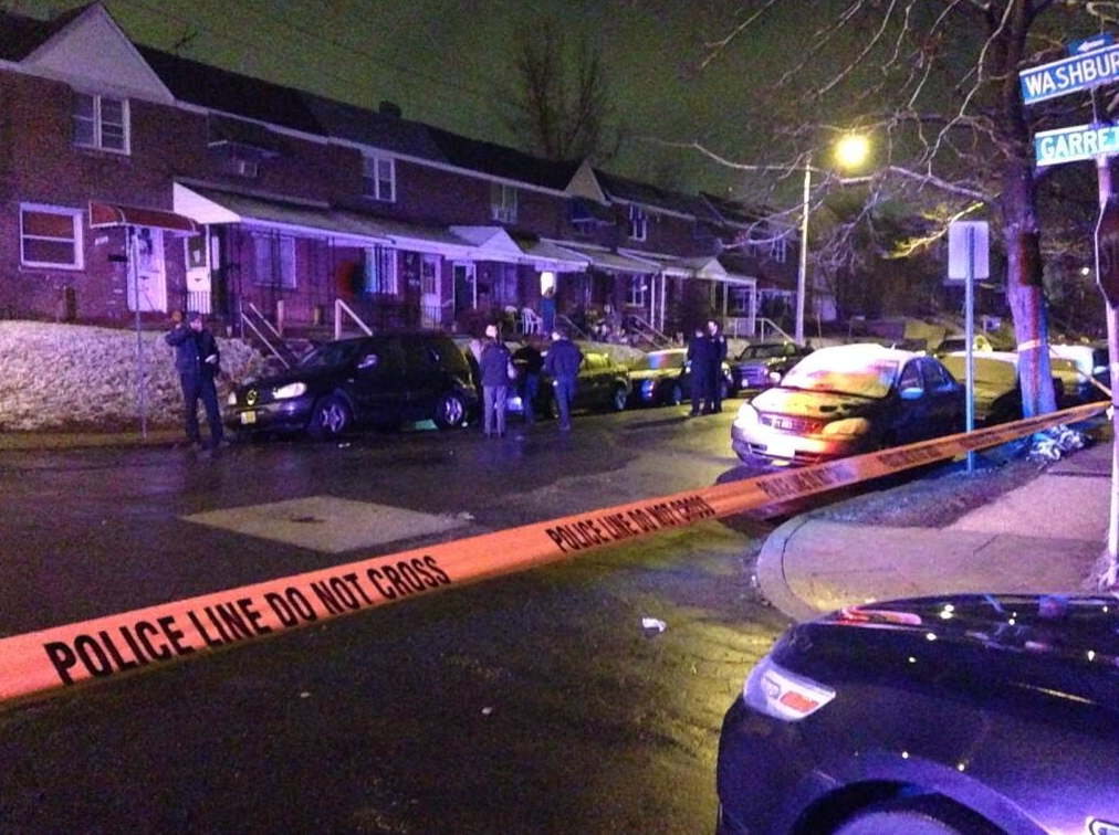 Two women and a man were injured in a shooting Tuesday night in the South Baltimore neighborhood of Brooklyn.