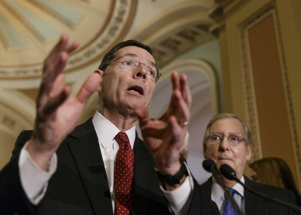 Sen. John Barrasso (R-Wyo.), left, and Senate Minority Leader Mitch McConnell (R-Ky.) shed crocodile tears last month over the impact of Medicare Advantage cuts on seniors.