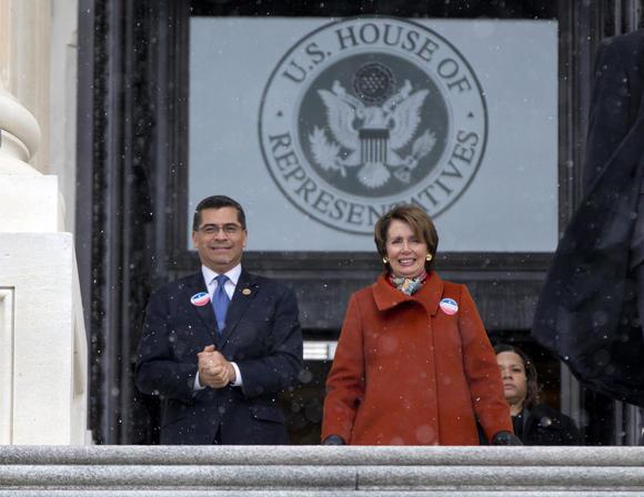 Reps. Xavier Becerra, Nancy Pelosi