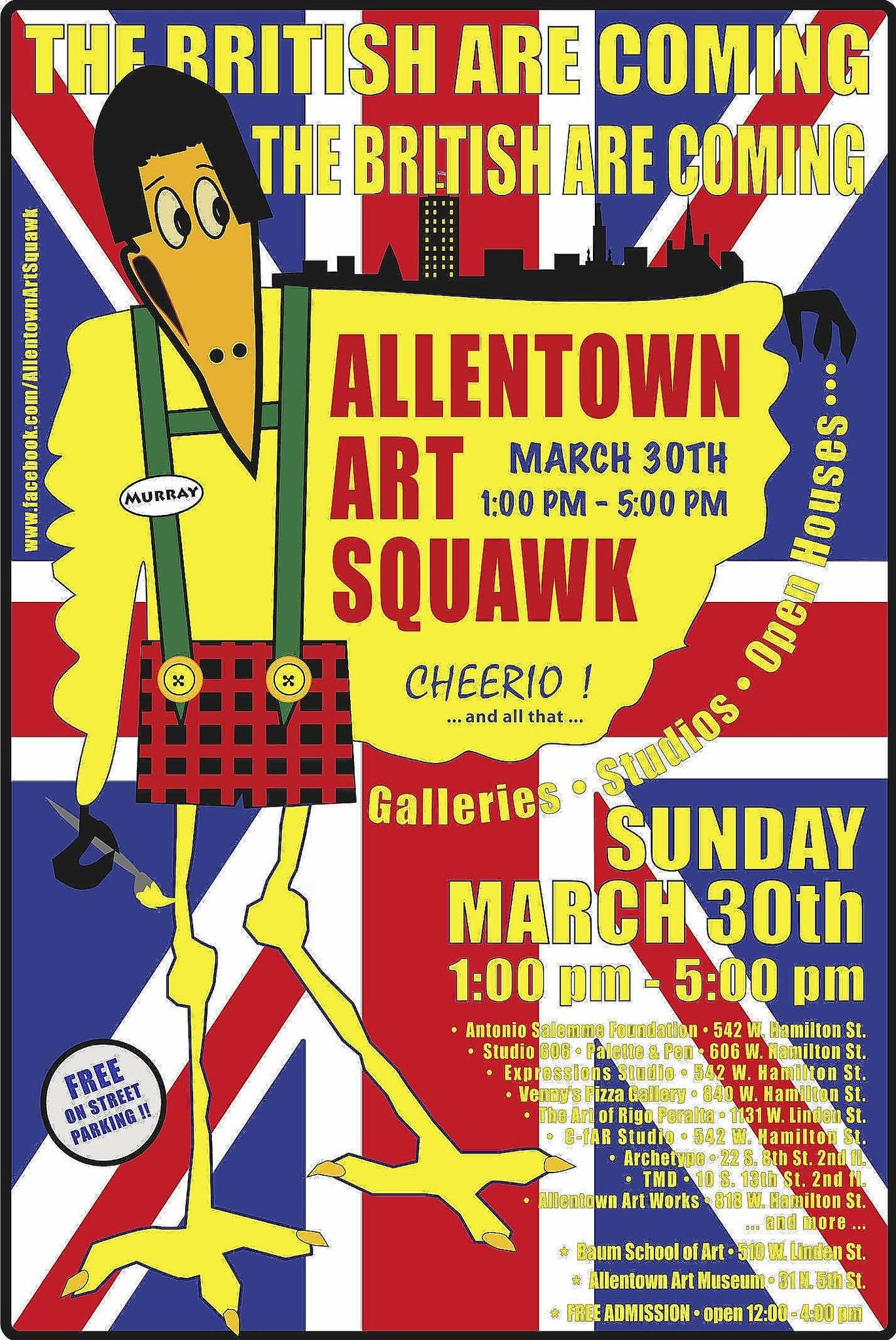 Allentown Art Squawk returns March 30 with a British theme.