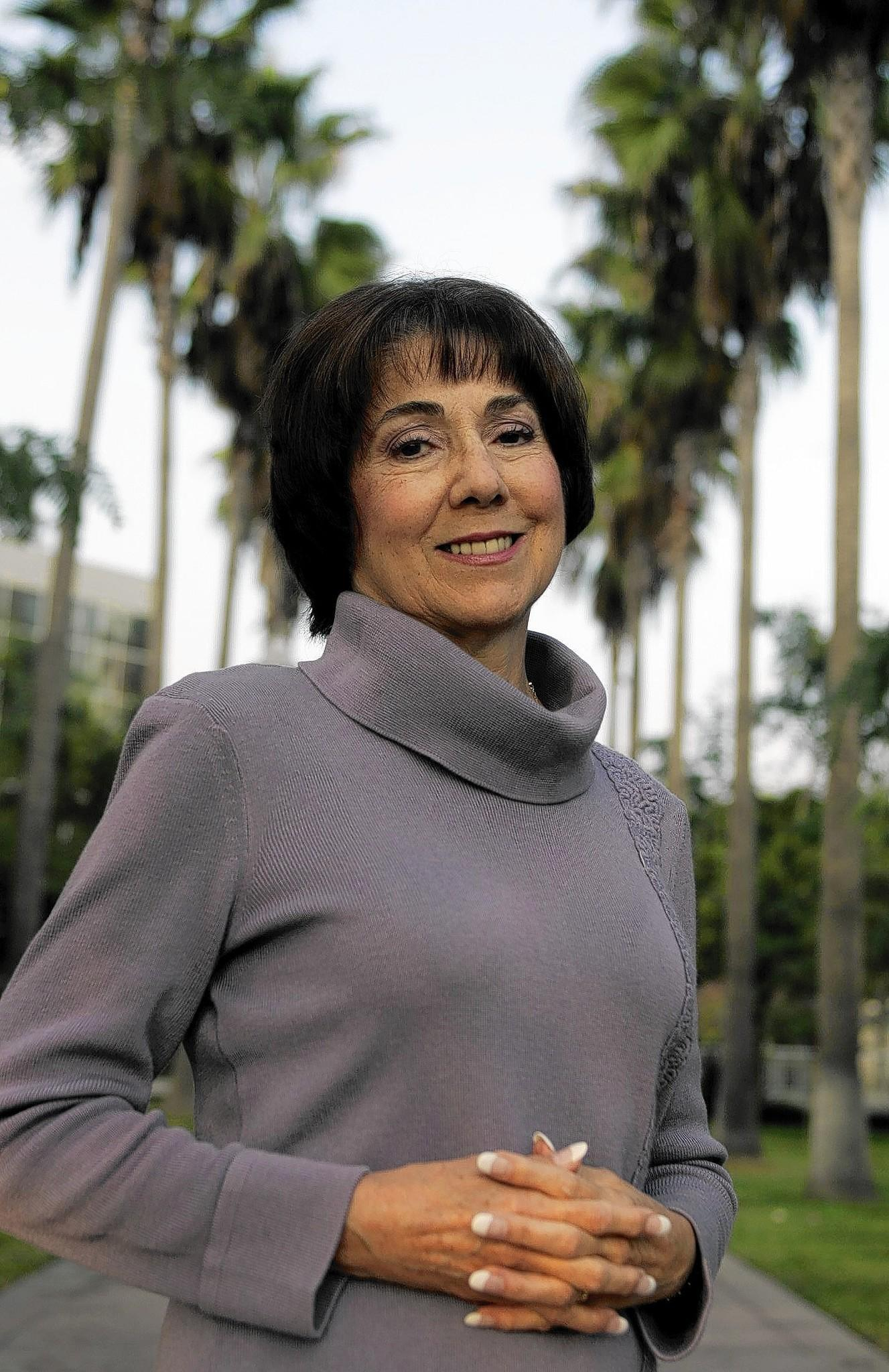 "Anaheim City Councilwoman Lucille Kring in 2006; she has apologized for stating that a fatal police shooting ""saved us a trial"" but many residents are still pressing her to resign."