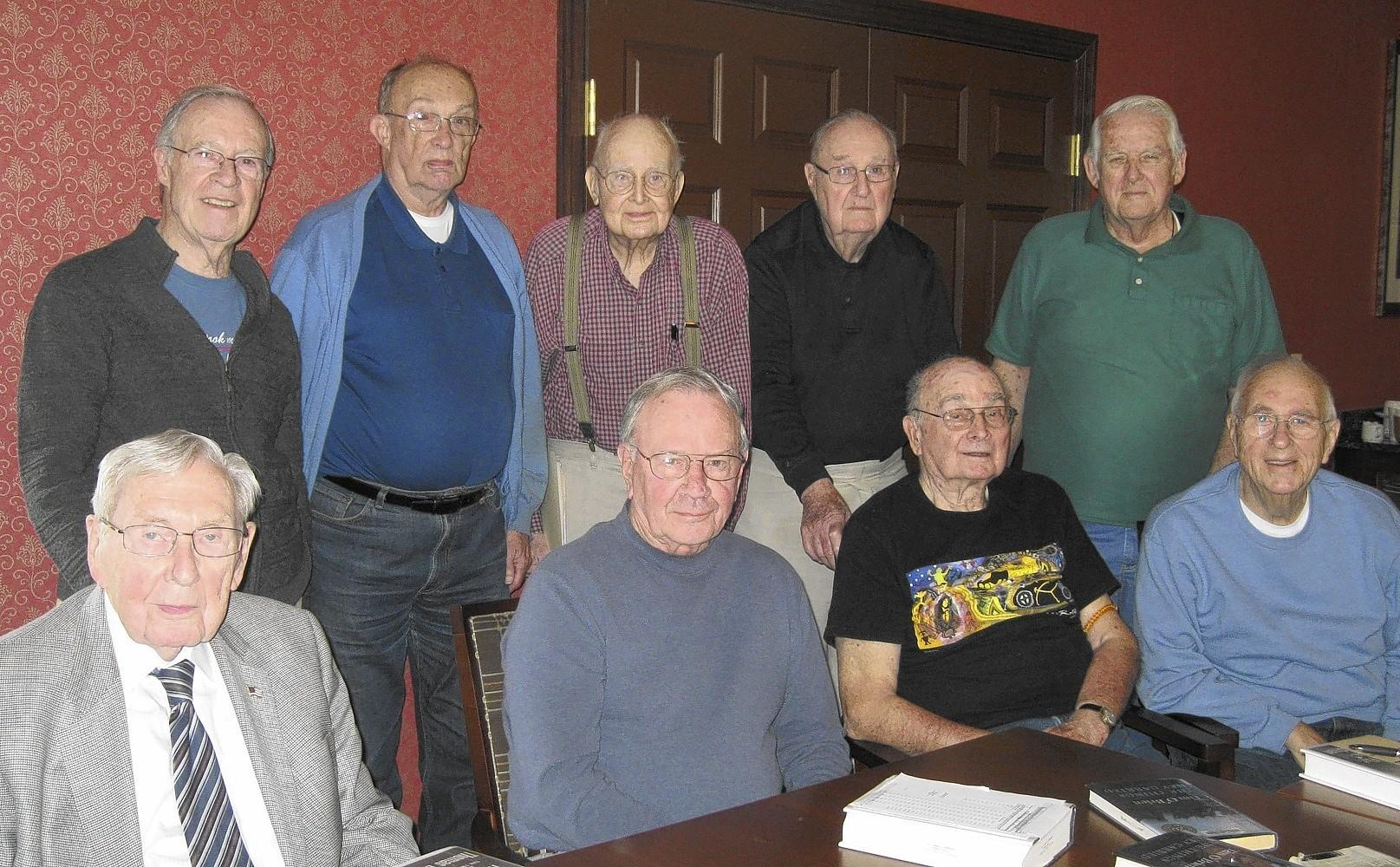 "The Smith's Crossing Men's Book Club plans to discuss ""Flyboys"" by James Bradley at their next meeting."
