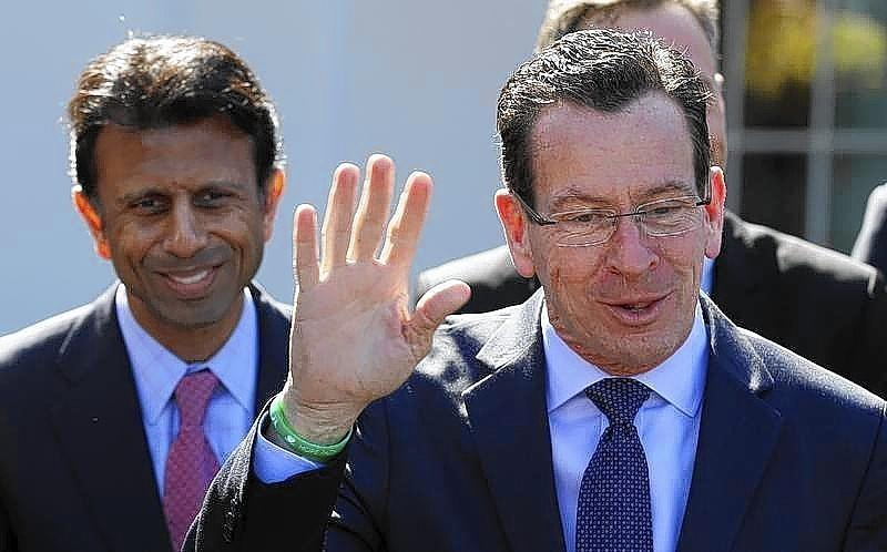 Connecticut Governor Malloy offers rebuttal regarding remarks made by Louisiana Governor Jindal following National Governors Association event hosted by U.S. President Barack Obama at the White House in Washington.