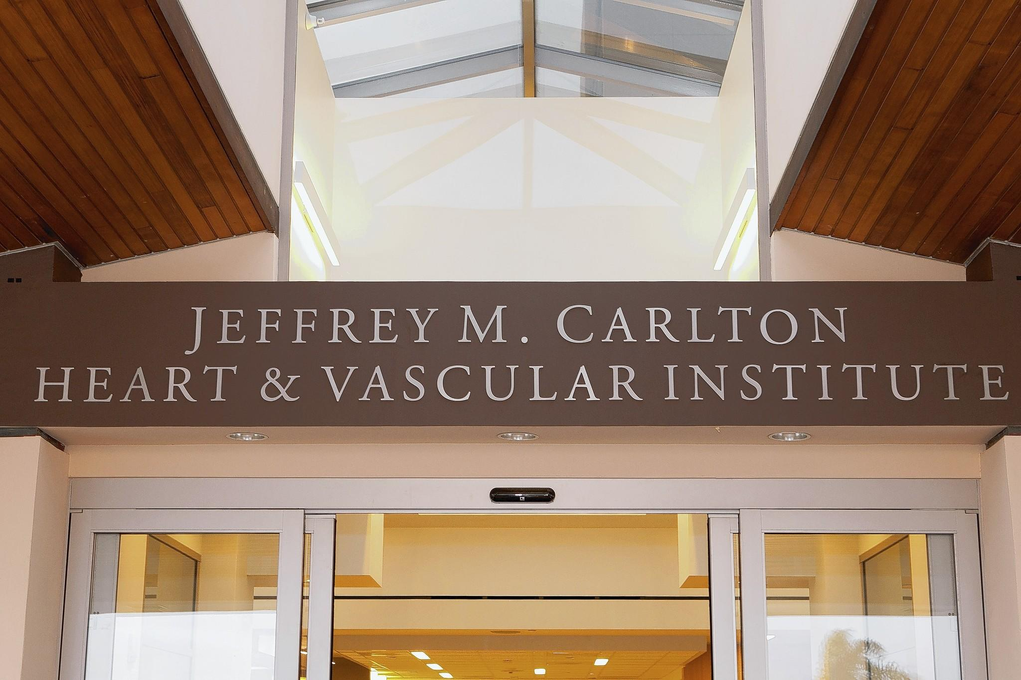 Hoag Hospital unveiled the Jeffrey M. Carlton Heart & Vascular Institute, re-named for the late donor who gave the largest gift to the hospital to date.