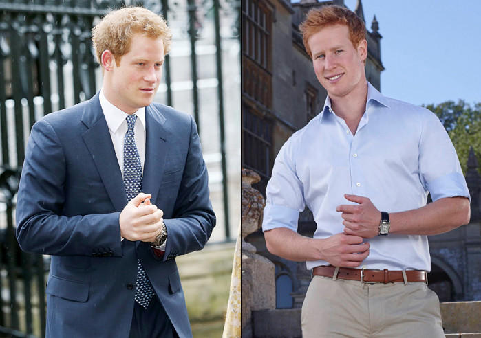 "We're guessing the real Prince Harry (left) won't be involved when Matthew Hicks pretends to be him in ""I Wanna Marry 'Harry.'"""