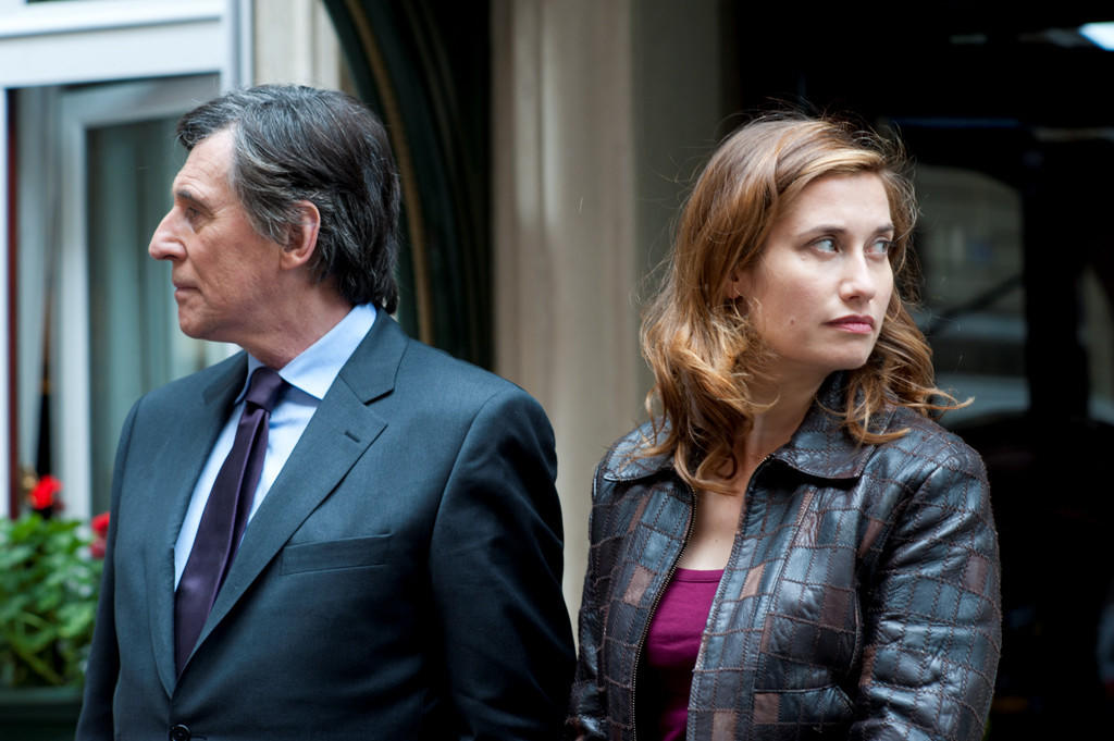 "Emmanuelle Devos, right, and Gabriel Byrne in the movie ""Just a Sigh."""