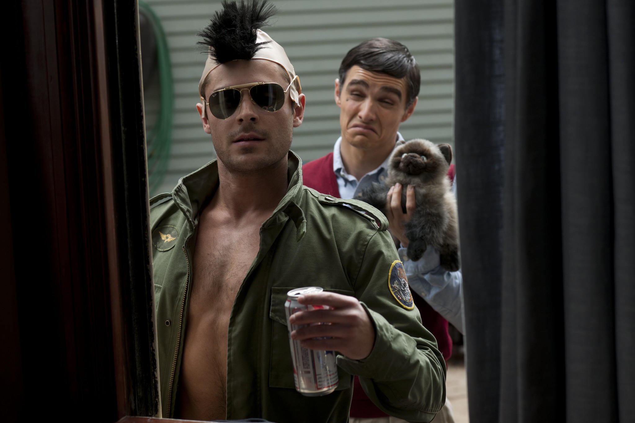 "Zac Efron, left, and Dave Franco in ""Neighbors."""