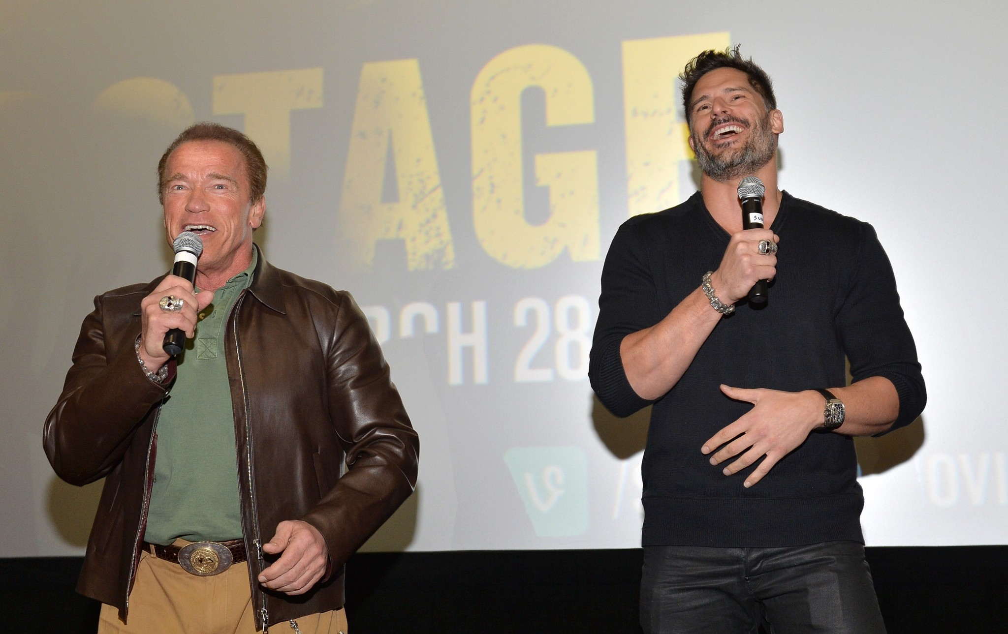 Celeb-spotting around South Florida - Arnold Schwarzenegger and Joe Manganiello