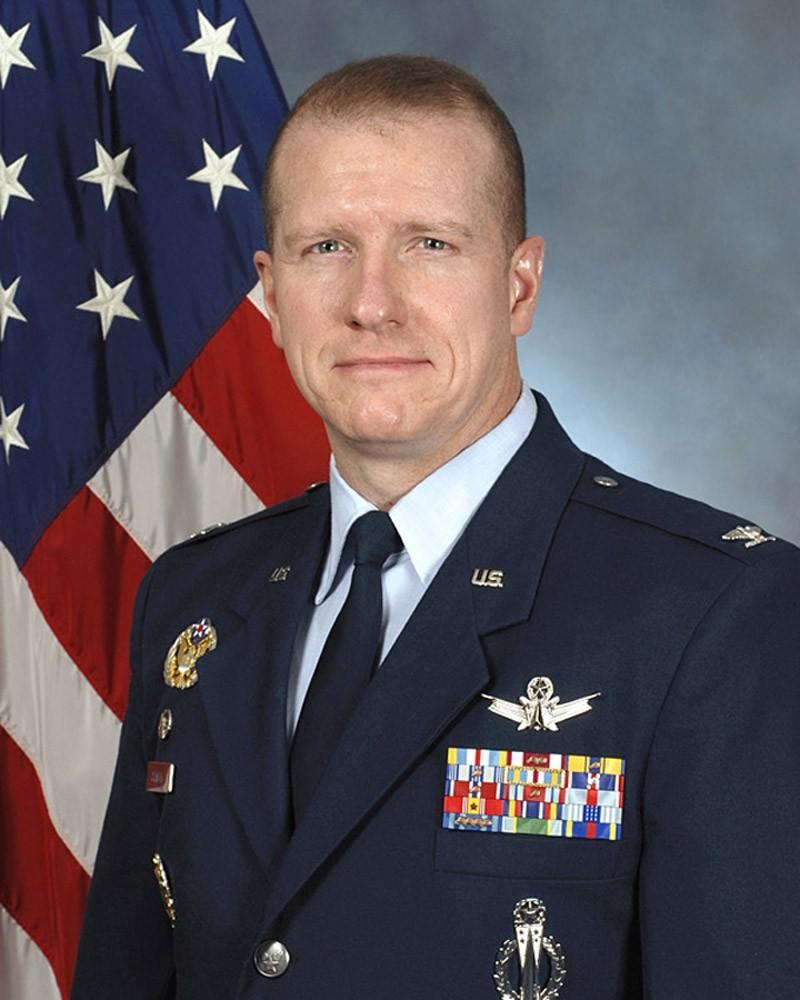 Colonel Robert W. Stanley II, Commander, 341st Missile Wing, Malmstrom Air Force Base, Montana is pictured in this photo courtesy of the U.S. Air Force. Stanley, the head of the nuclear missile wing at Malmstrom Air Force Base in Montana resigned on March 27, 2014, and nine commanders were removed from their jobs for command failure over a classroom test cheating scandal that involved 91 missile launch officers, the Air Force said.