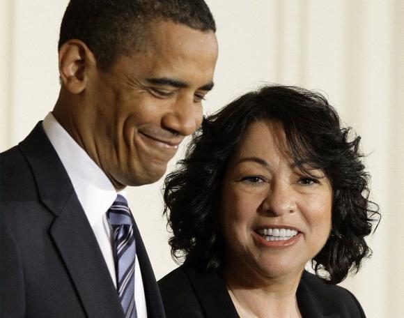 Barack Obama and Sonia Sotomayor