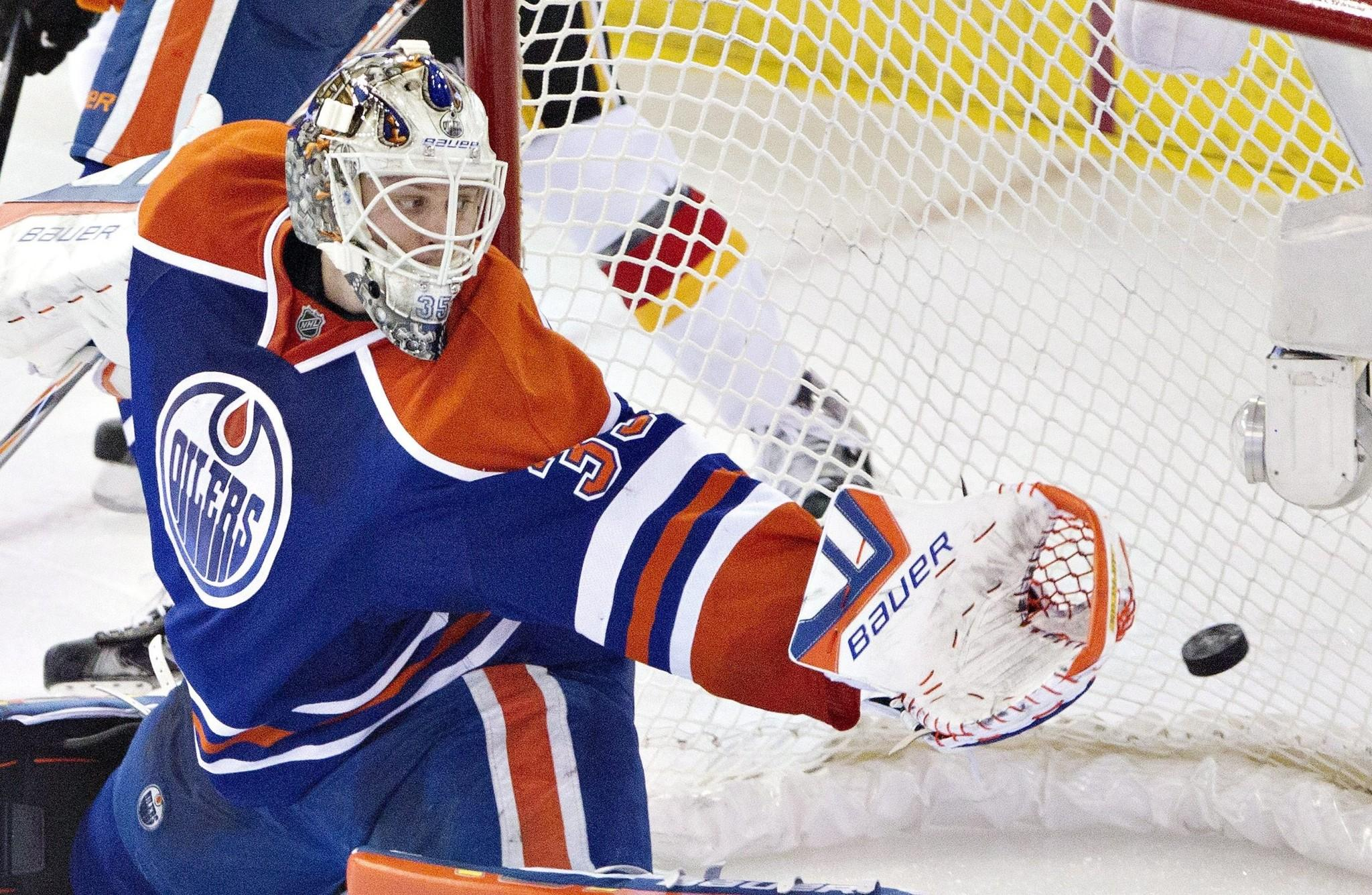 Former Ducks goalie Viktor Fasth has been splitting time in the net with former Kings goalie Ben Scrivens, but won't face his former team when they play Friday at Rexall Place in Edmonton.