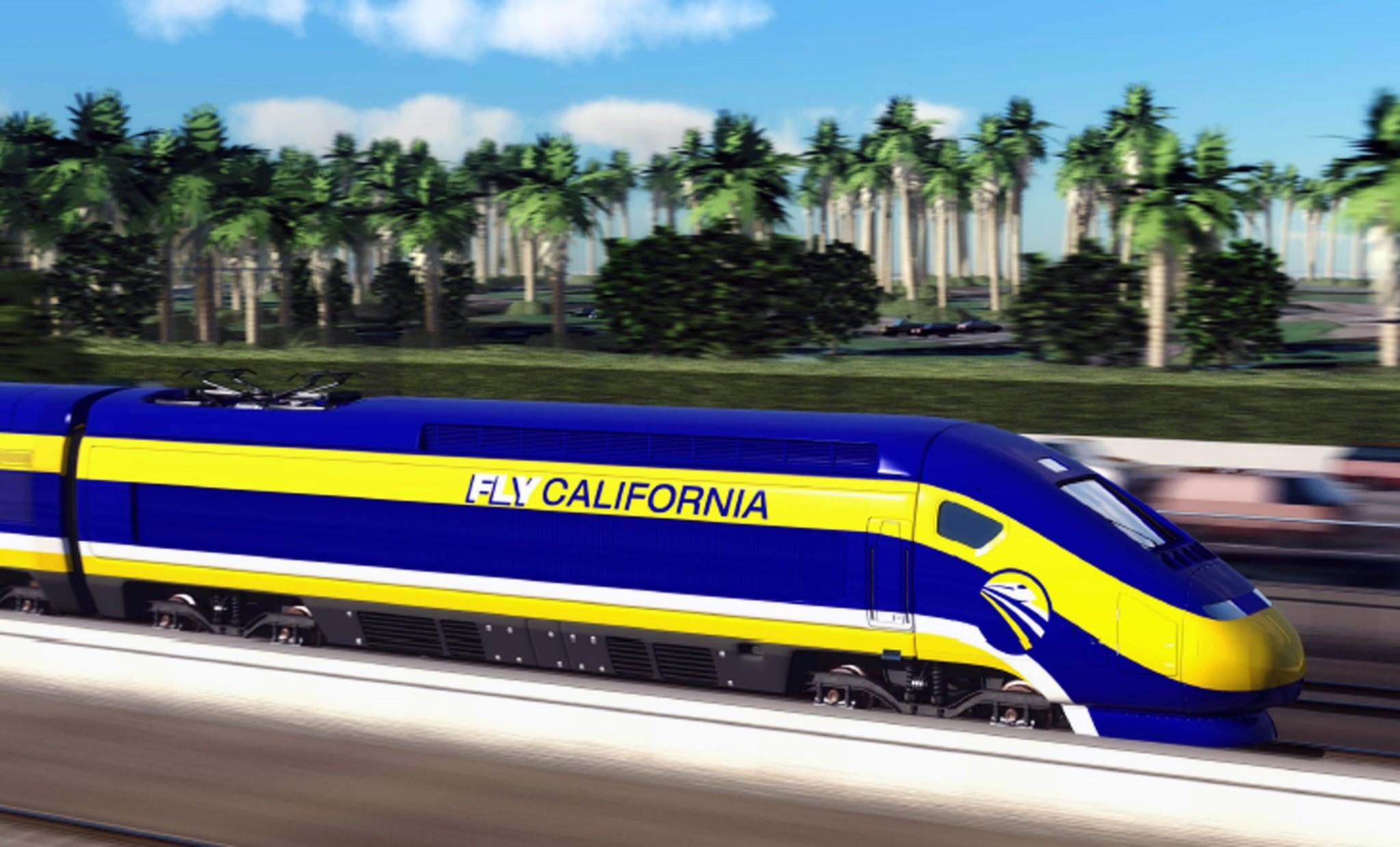 This image provided by the California High-Speed Rail Authority shows an artist's conception of a high-speed rail car in California. Experts say it's unlikely the bullet train will be able to make regularly scheduled trips of two hours and 40 minutes between L.A. and San Francisco, as promised to voters.