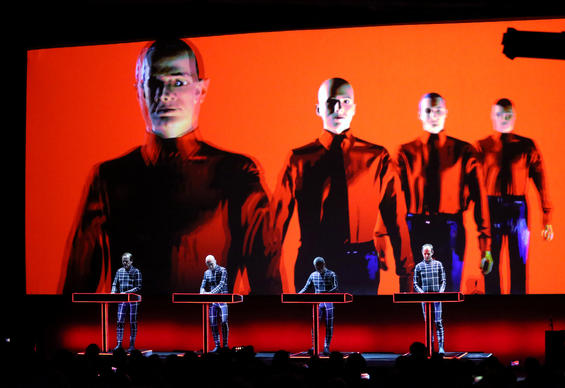 Kraftwerk performs at the Riviera Theatre in Chicago.