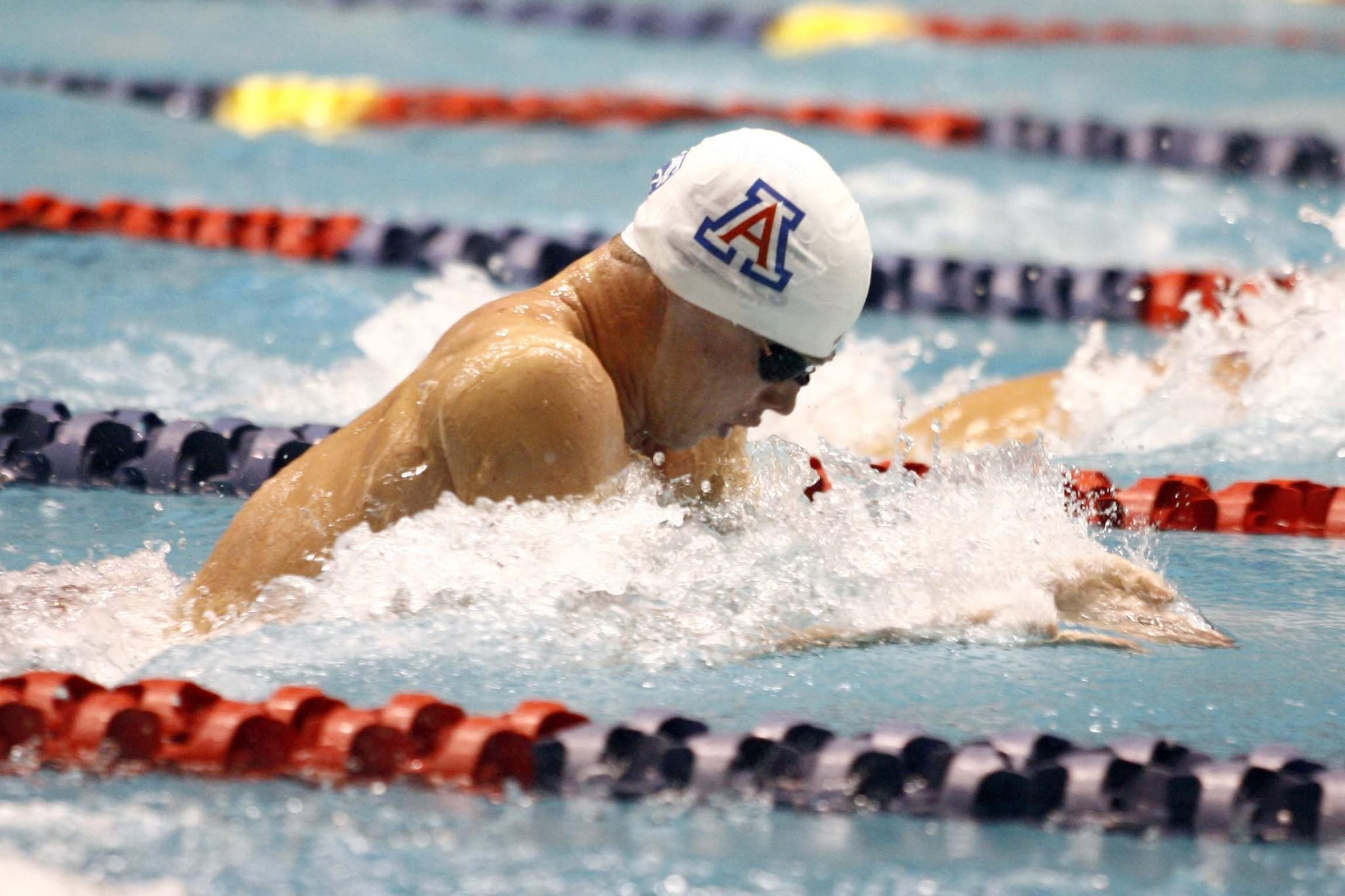 Kevin Cordes winning the 100 breaststroke at the 2012 NCAA Championships.
