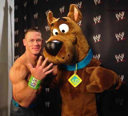 John Cena with Scooby-Doo
