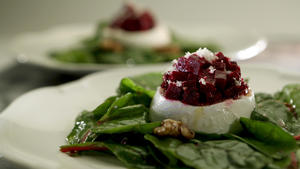 Beet and burrata salad