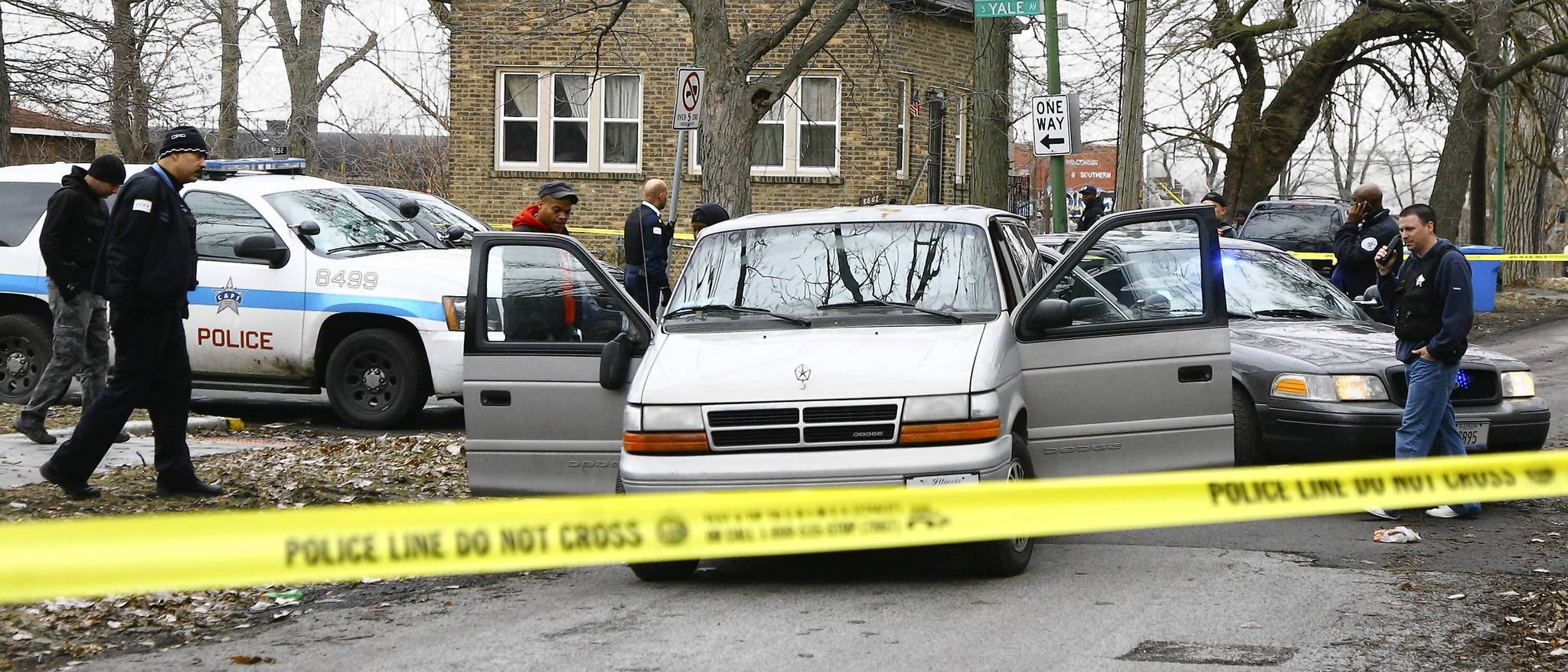 Chicago police investigate a police-involved shooting in the Longwood Manor neighborhood in Chicago.