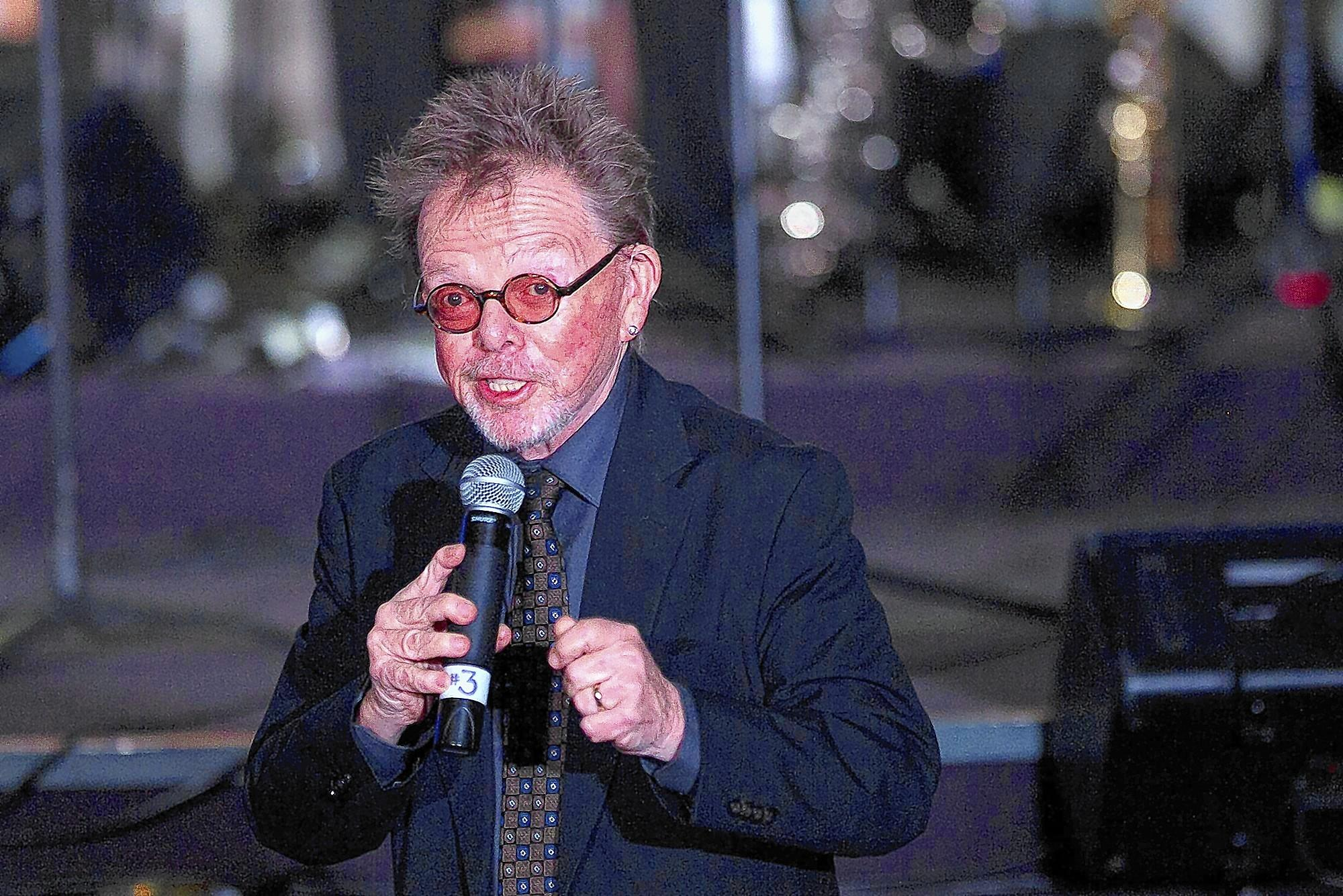 Paul Williams talks to the audience at University Synagogue in Irvine on Thursday during the Paul Williams Song Festival. (Scott Smeltzer, Daily Pilot)