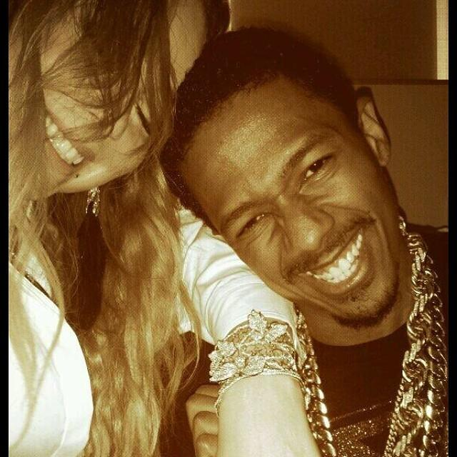"Nick Cannon shows off his wife Mariah Carey's birthday present on Instagram. The ""America's Got Talent"" host surprised her with a diamond-encrusted butterfly bracelet, which she promptly showed off on social media."