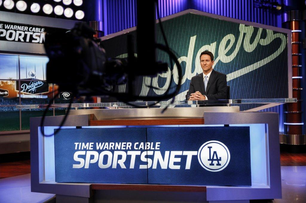 John Hartung, formerly of ABC 7 in Los Angeles, is the main studio anchor for SportsNet LA. So far, the cable channel that will broadcast Dodgers games this season is available to about 30% of the local TV market.