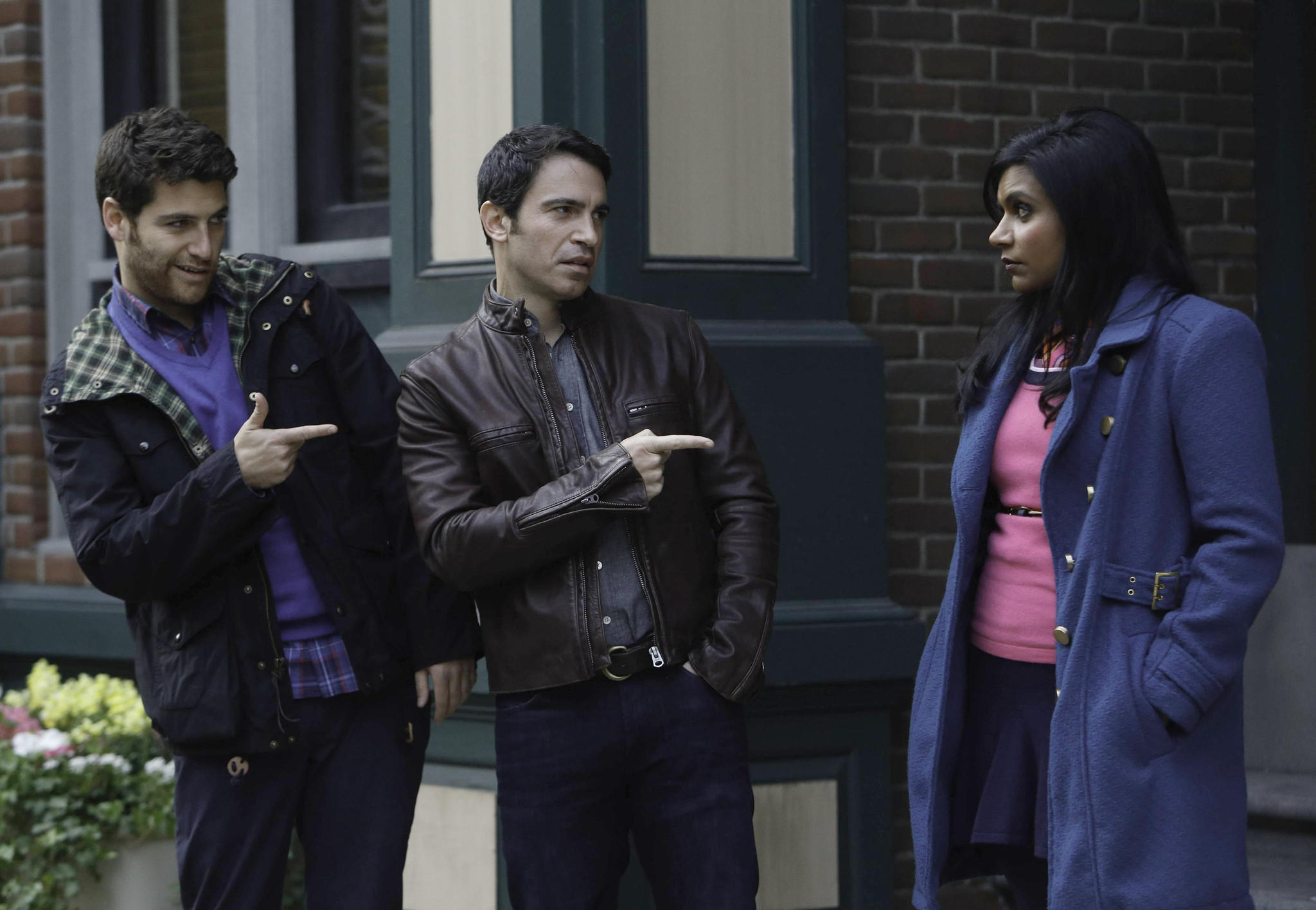 "Adam Pally, left, Chris Messina and Mindy Kaling star in ""The Mindy Project."""