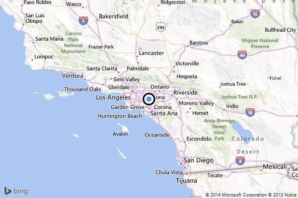Earthquake Quake Strikes Near Brea Latimes - Where is brea california on the california map