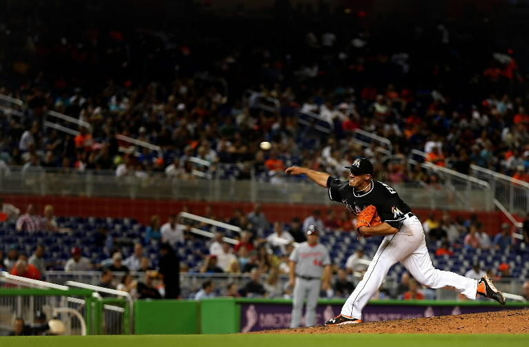 Marlins pitcher Jose Fernandez delivers a pitch at Marlins Park last year. The Marlins had the lowest attendance in the National League in 2013.