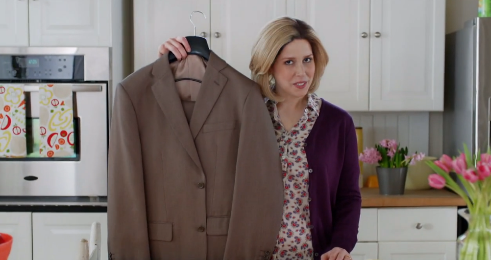 "Vanessa Bayer stars in a ""Saturday Night Live"" skit about Jos. A. Bank."