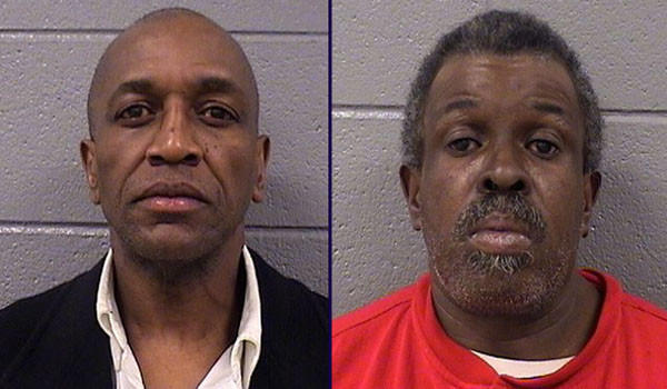 Cornelius Upshaw, 54, and Clarence McClellan, 56, were arrested on charges of theft and trespassing after selling parking spaces at an Uptown church for patrons attending an event at the nearby Aragon Ballroom on Saturday, authorities said.