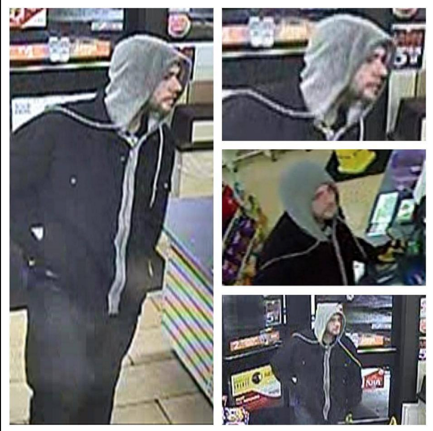 Police are searching for this man, who they said attempted to rob a 7-Eleven in Anne Arundel County before shooting the clerk with a BB gun and running from the store.