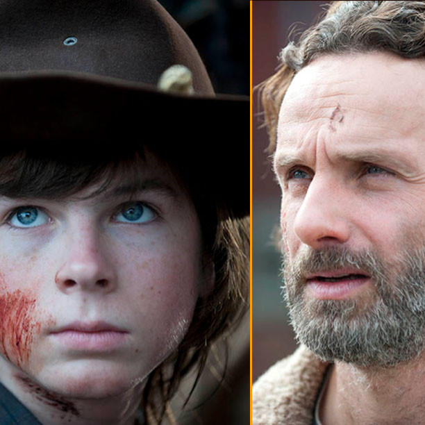 """Carl (Chandler Riggs) and Rick Grimes (Andrew Lincoln) don't take crap from ANYBODY on AMC's """"The Walking Dead."""""""