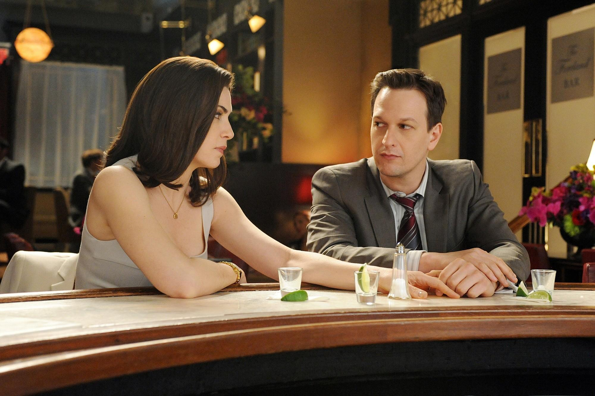 """Will(Josh Charles) and Alicia (Julianna Margulies) from Season 2 of """"The Good Wife."""" Sunday's episode powerfully tapped the poignancy of what might have been for these two."""
