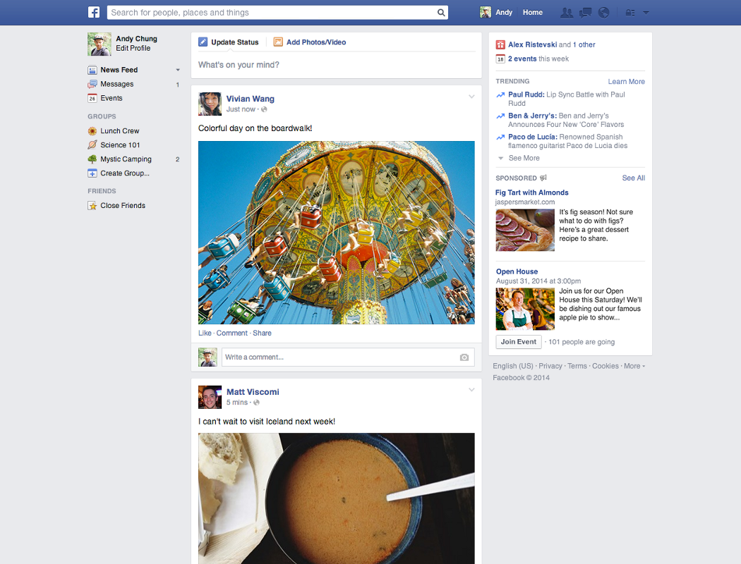 Facebook rolled out a News Feed redesign recently, but it's not the look it unveiled more than a year ago.