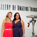 "Bonnie Levengood, left, and Trish Norman-Figueiredo prepare for Children's Home Society of Florida's 13th annual ""Helping Turn Lives Around Luncheon,"" to take place April 24 at the Gallery of Amazing Things in Dania Beach."