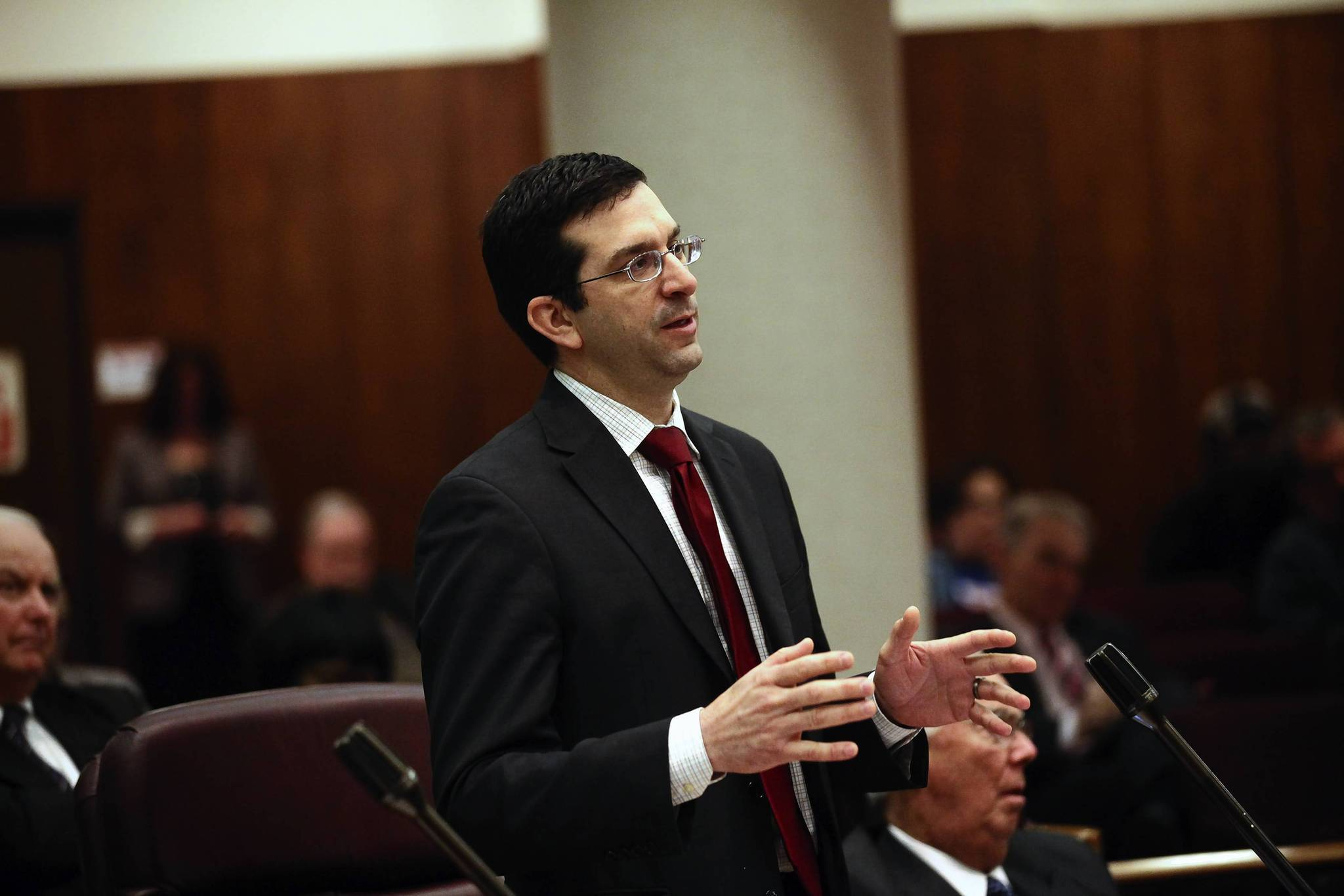 """Ald. Scott Waguespack, 32nd, said he wasn't aware of everything an ordinance he proposed would allow until a Tribune reporter brought it to his attention. """"I probably should have paid a lot closer attention to it, but I was distracted by other stuff, like billion-dollar bond deals,"""" he said."""
