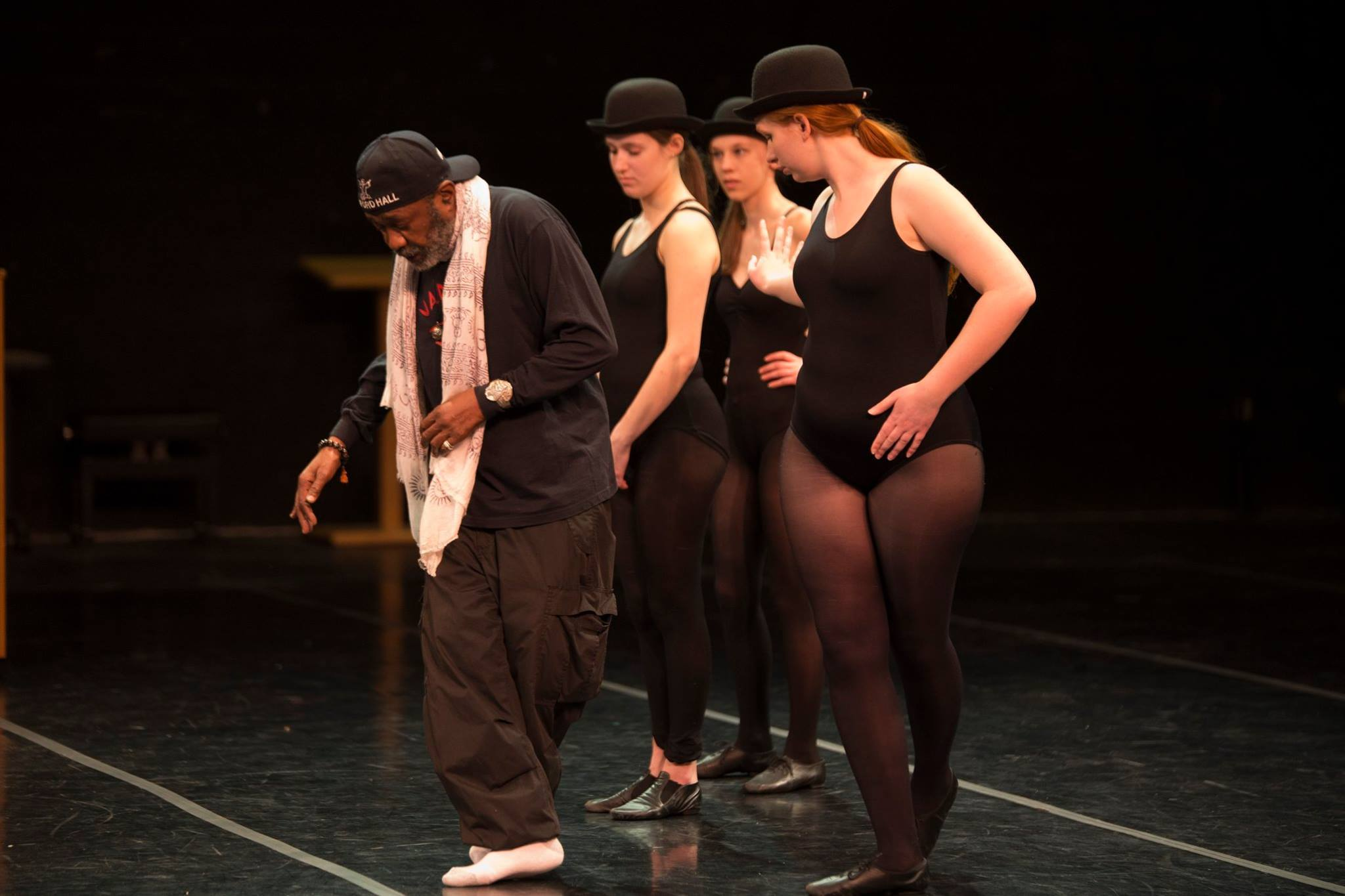 Ben Vereen teaches a master class at the CREC Greater Hartford Academy of the Arts.