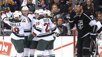 Parise, Moulson, And Koivu Tally: Kings Squander Third-period Lead, Lose To Wild, 3-2