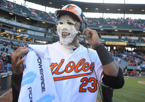 Extra-base hit by the Orioles -- left fielder Nelson Cruz's go-ahead home run in the bottom of the seventh inning.