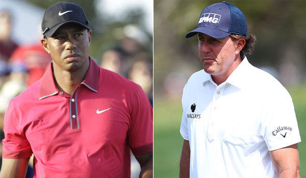 Tiger Woods, left, and Phil Mickelson are among the top golfers nursing injuries leading into next week's Masters.