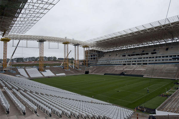 Itaquerao stadium, pictured in November, is slated to host the opening football match of the Brazil 2014 FIFA World Cup.