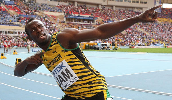 Jamaica's Usain Bolt, shown celebrating after winning the men's 400-meter relay final at the 2013 IAAF World Championships in Moscow, will not race at a Diamond League event in June.