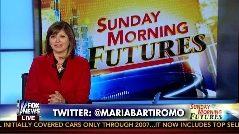 "Maria Bartiromo hosts ""Sunday Morning Futures"" on Fox News."