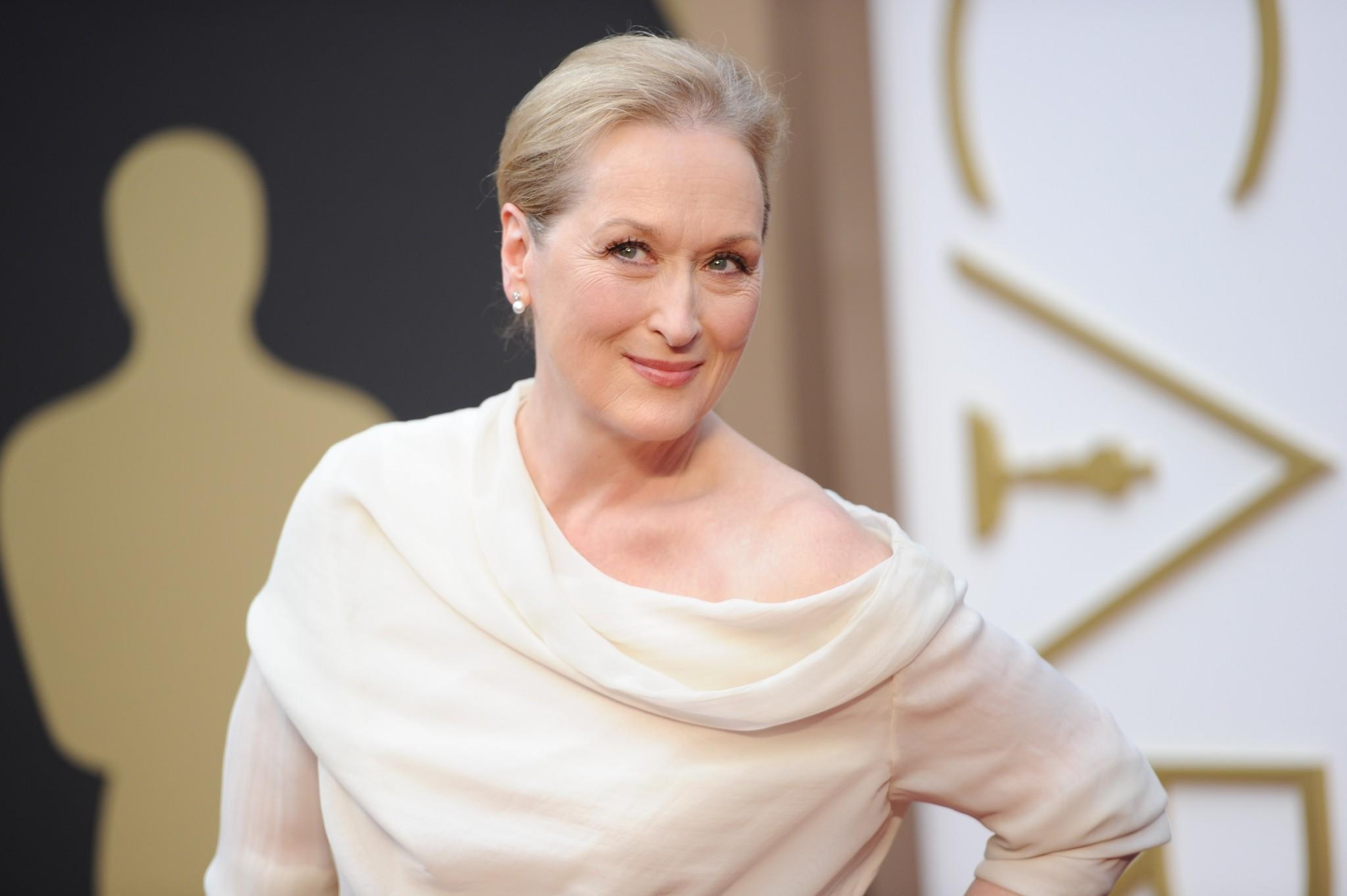 """Meryl Streep, shown here at the 86th Academy Awards, is set to play the lead role in the rock 'n' roll dramedy """"Ricki and the Flash."""""""