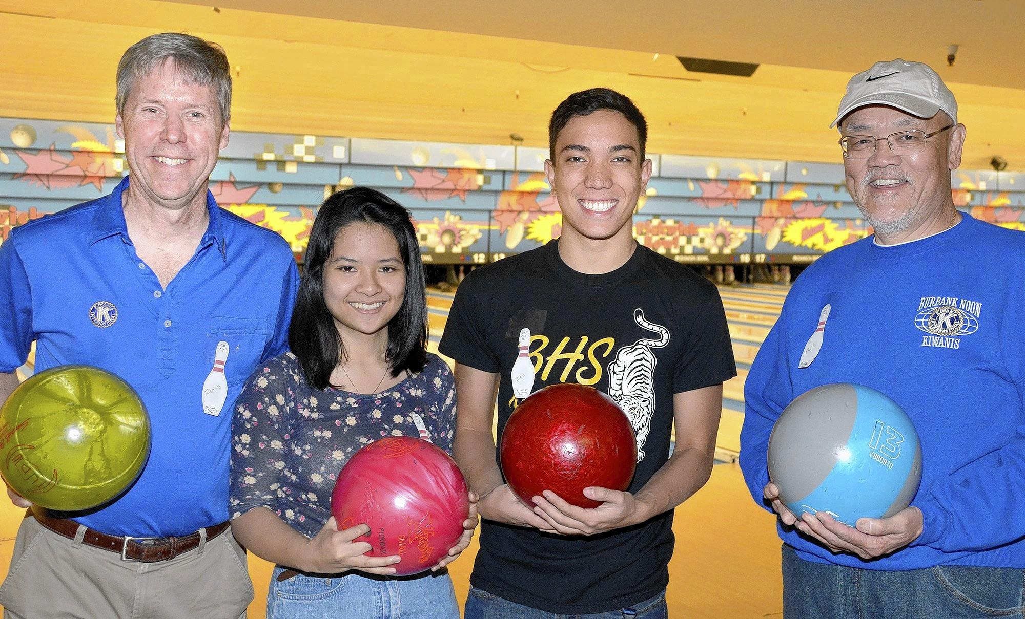 Ready to roll at the Pickwick Bowl, are Bruce Lilly, from left, Daisy Duong, Ian Shovestull and Phil Jue.