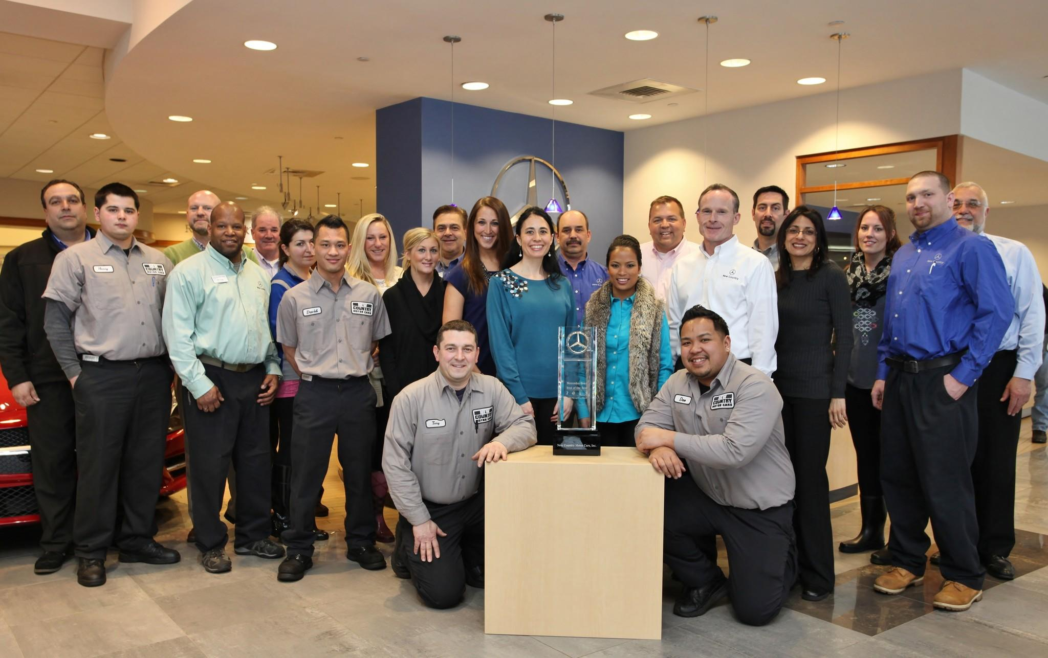 The team of New Country Mercedes-Benz earned the Best of the Best Dealer Recognition for their outstanding performance in 2013.